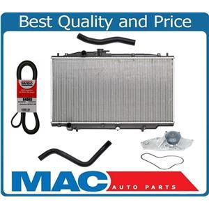 for 03-07 Accord V6 3.0L Leak Tested Radiator Water Pump Belts & Hoses NO HYBRID