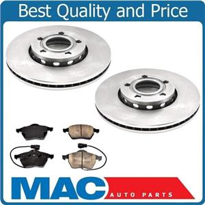 for 95-99 Audi A6 Front Wheel Drive Front Brake Disc Rotors & Brake Pads