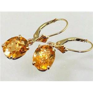 E107, Citrine, 14k Gold Earrings