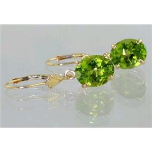 E107, Peridot, 14k Gold Earrings