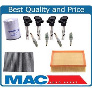 Oil Air Cabin Air New Coils With Platinum Plugs for 02-06 Audi TT 1.8L Turbo