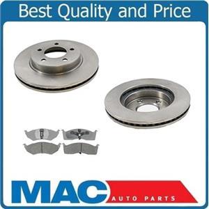 (2) 5387 11 1/8 Inch Front  Disc Brake Rotor & Ceramic Pads Must Measure Rotors