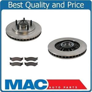 (2) 54091 Disc Brake Rotor Frt  Xtra Duty Ceramic Pads 99-03 F150 Lighting 2W/D