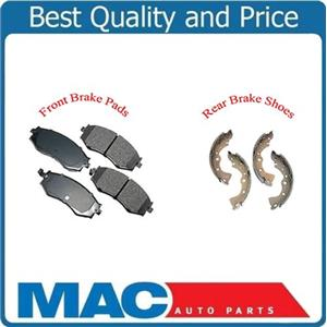 03-06 Sentra 1.8L  Front Ceramic Pads & Organic Brake Shoes