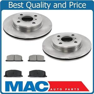 (2) Front Brake Rotors & Ceramic Pads 100% New for Toyota Tercel 1991-1999