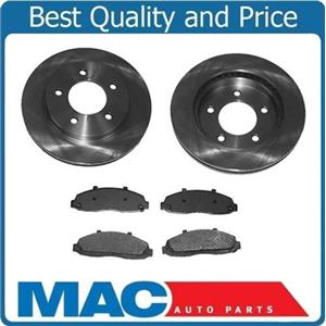 (2) Front Brake Rotors & Ceramic Pad for 2007-2009 Dodge Durango