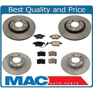 100% New Front & Rear Disc Rotors Ceramic Pads for 07-09 Jetta City Model 6pc Kt
