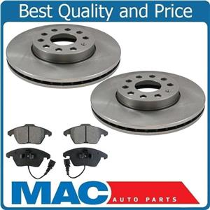 for 05-2009  Volkswagen Jetta 2.5L Engine 288MM Frt  Brake Rotors & Ceramic Pads