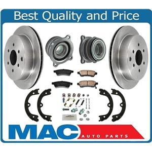 100% New REAR Disc Rotors Pads With Rear Wheel Bearing for Nissan Xterra 05-15