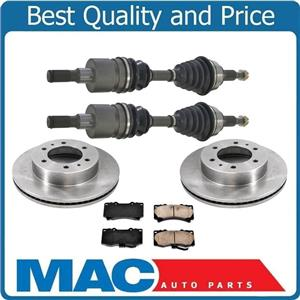 100% New Brand Front Axles Disc Rotors & Brake Pads for Hummer H3 H3T 2006-2010