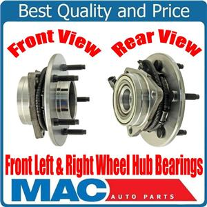 (2) 100% New FRONT Wheel Bearing & Hub for 4 Wheel Drv 4W ABS 5Std 97-99 F150