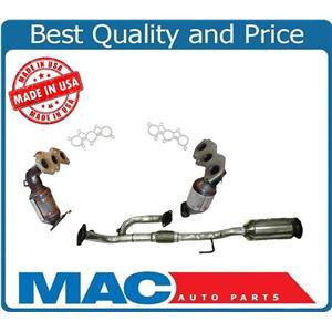 For 07-17 Camry 3.5L Frt & Rear Plus Y Flex Pipe Under Car Catalytic Converter