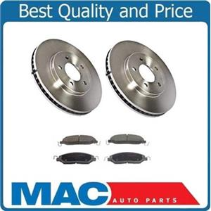 (2) Front Brake Rotors & Ceramic Pads for  Ford Mustang 4.0L 2005-2010