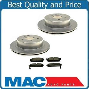 (2) Rear Brake Rotors & Ceramic Brake Pads Will Fit 1999-2001 Q45 1993-1997 J30