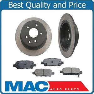 (2) Rear Rotors With Ceramic Pads 31312 CD905 Fits For Altima Juke Maxima Sentra