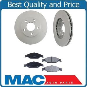 Front Brake Rotors & Ceramic Brake Pads for Camry 4 CYL. W/ 15 Inch Rims 00-01