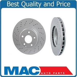 00-02 Mercedes S430 S500  00-03 CL500 (2) Cross Drilled Front Rotors