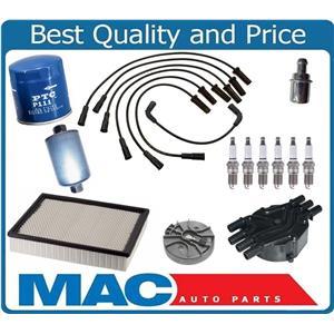 Platinum Plugs Spark Plug Wires Air Oil Gas Cap Rotor  99-01 Silverado V6 4.3L