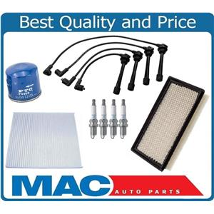 New Spark Plugs Ignition Wires Air Oil Filter for Kia Spectra 2.0L ONLY 04-07