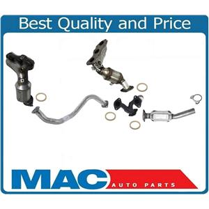 Front & Rear Catalytic Converter With Front Pipes For Toyota Rav4 V6 3.5L 06-12