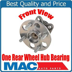 (1) 100% New REAR Wheel Bearing and Hub Assembly for Toyota Prius C 12-16