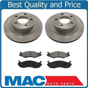 Front Brakes Disc Rotors Pads 3Pc Fits 84-89 Jeep Cherokee 4 Wheel Drive