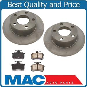 New Rear Brake Rotors and Brake Pads for Front Wheel Drive Audi A6 1995-1997