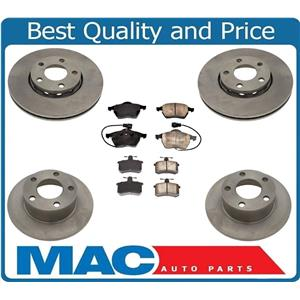 Front & Rear Brake Rotors and Brake Pads for Front Wheel Drive Audi A6 1995-1997