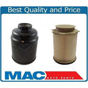 13-18 Ram 2500 3500 6.7L Turbo Diesel (3) Fuel Filter Water Separator 2 Pcs Kit
