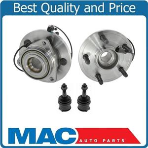 100% New Front Wheel Hub Bearings & Lower Ball Joints for Dodge Durango 06-09