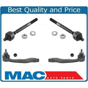 Brand New set of Front Inner Tie Rods & Outer Tie Rods Fits for Honda CR-V 97-01