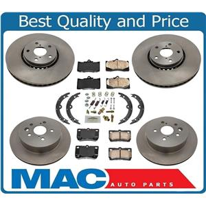 New Front & Rear Brakes Disc Rotors Ceramic Pads 8pc for Lexus IS350 2009-2011