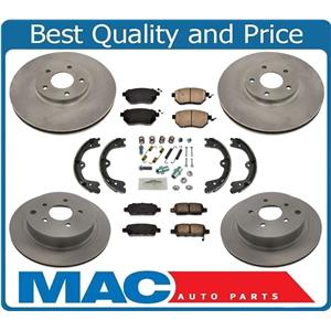 100% New F & R Disc Brake Rotors and Brake Pads for Nissan Maxima 04-08 8pc