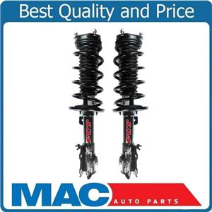 (2) 100% New FRONT Complete Coil Spring Struts for 2011-2016 Ford Fiesta