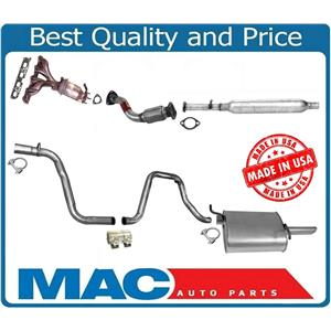 Full Exhaust System Front & Rear Converter Muffler for Chevy Malibu 2.2L 04-08