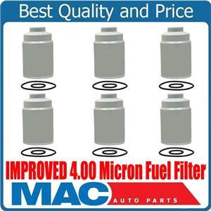 10-16 Silverado GM 6.6L Turbo Diesel IMPROVED 4.00 Micron Fuel Filter (6)