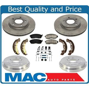 For Nissan Sentra 2013-2019 1.8L With Rr Brake Drums Brake Shoes Rotors Pads