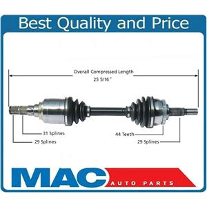 Front Left CV Drive Axle For 00-01 Infiniti I30 Automatic W/ Limited Slip Differ