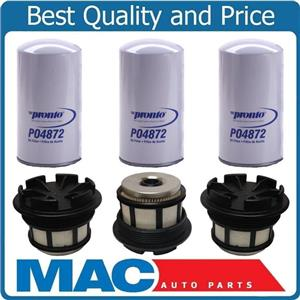 For 99-03 Ford F250 SUPER 7.3L Diesel Turbo Fuel Filter With Cap Oil Filters 6pc