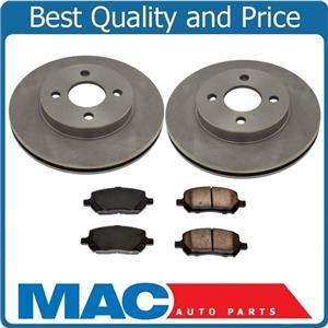 4 Bolt Front Disc Brake Rotor Ceramic Pads 05-10 Cobalt W/ Rear Drum Brakes 3pc