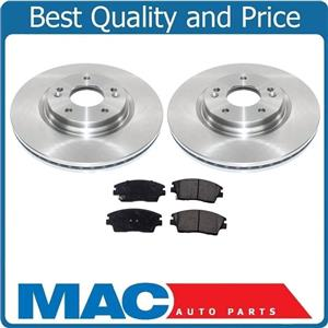 Front Disc Rotors and Brakes Pads for Hyundai Tucson 16-19 Gas Engine ONLY