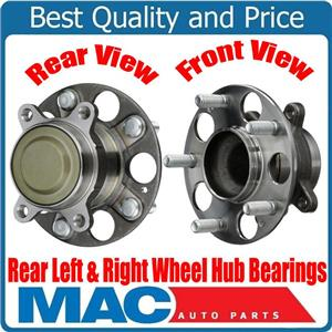 100% New Torque Tested Rear Left & Right Wheel Hub Bearings for Acura ILX 13-15