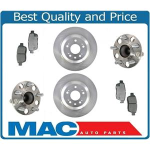 Rear Wheel Bearings Assembly Rotors & Pads Fits Acura TL Front Wheel Drive 09-14