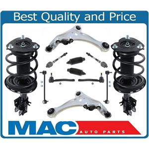 Front Complete Struts Control Arms Tie Rods 12 Pcs For Nissan Maxima 2009-2014