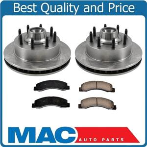 Front Rotors Rear Pads for Ford F250 Rear Wheel ABS Only Rear Wheel Drive 99-04