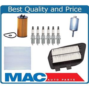 New Double Platinum Spark Plugs Air Cabin Oil Gas Filters for Cadillac CTS 3.2L