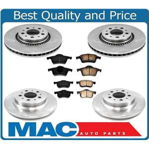 for Volvo S80 99-05 With 305MM Frt Rotors & Ceramic Pads 305MM Rotors Only 6pc