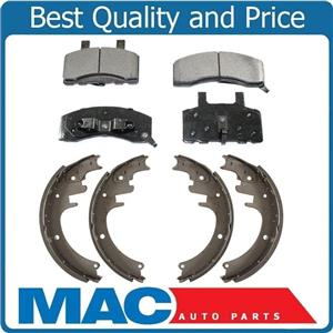 New Front Ceramic Pads & 13 x 2.5 Inch Rear Brake Shoes for Dodge Ram 2500 94-99