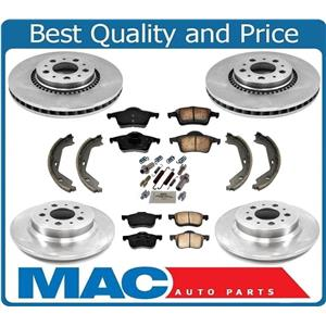 Fits for Volvo S80 99-05 W/ 305MM Front Rotors Brake Pads Shoes & Spring Kit