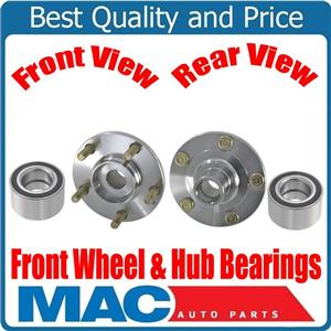 100% New Front Hub & Bearings for Mazda 3 05-08 Non ABS Without Anti Lock Brakes